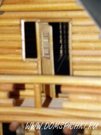 Макет дома из оцилиндрованного бревна