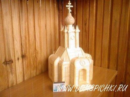 Церкви из спичек.