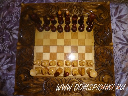 Шахматы - нарды. Резные.