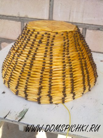 Светильник из спичек