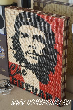 """картина из спичек """"Че Гевара"""""""