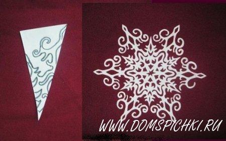 Новогодняя снежинка из бумаги