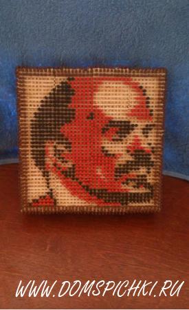 """Картина из спичек """"Ленин В.И."""""""
