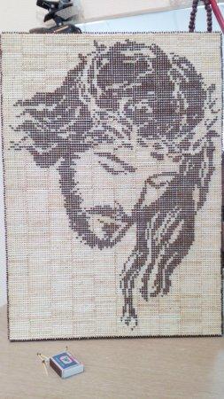 "картина из спичек ""Иисус"""