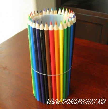 Ваза из карандашей в подарок на 1 Сентября