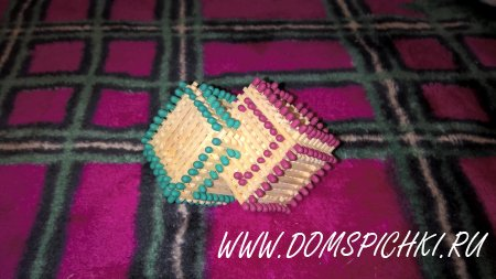 Кубик в кубике-1 из спичек