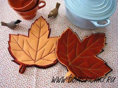 Осенние листья – подставка под горячее