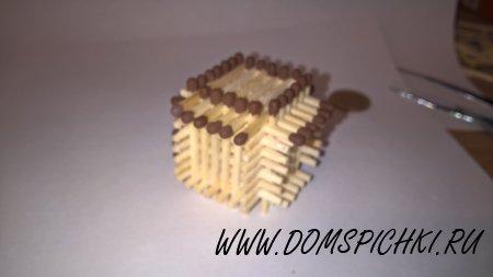 Кубик из спичек