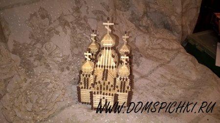 Церковь из спичек.