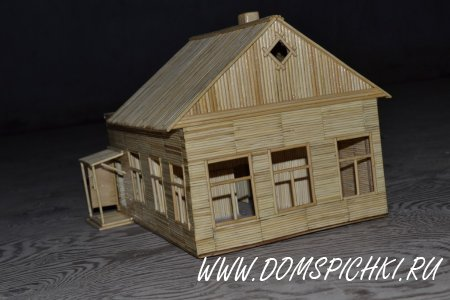 Дом из зубочисток