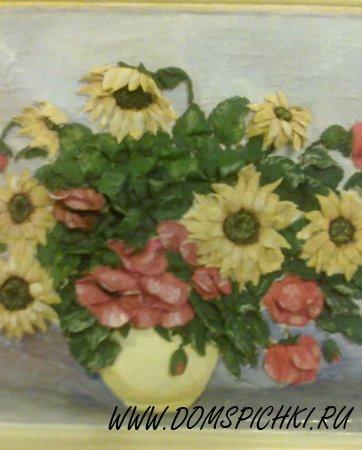 Мои любимые цветы из соленого теста