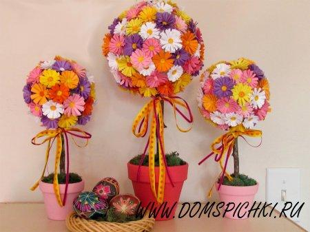 Цветочный топиарий – дерево счастья и благополучия своими руками