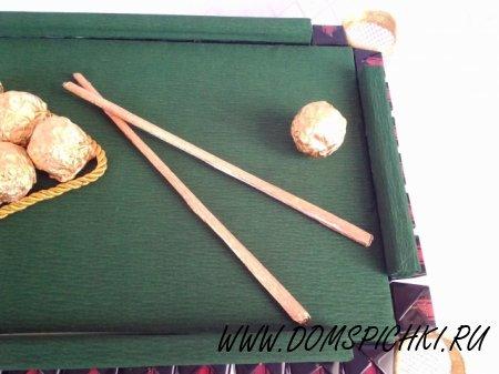 Конфетный бильярдный стол в подарок мужчине