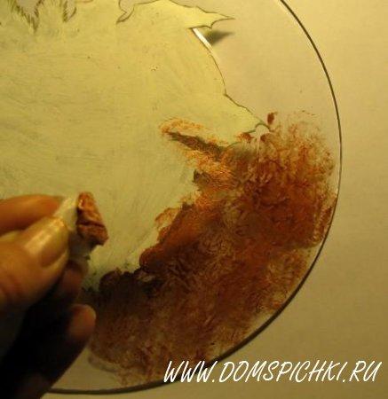 Декупаж стеклянной тарелки – быстро, просто и красиво