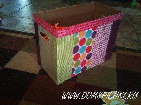 Удобная и красивая коробка для игрушек
