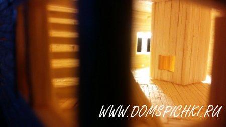 Дом из спичек с мансардным этажом