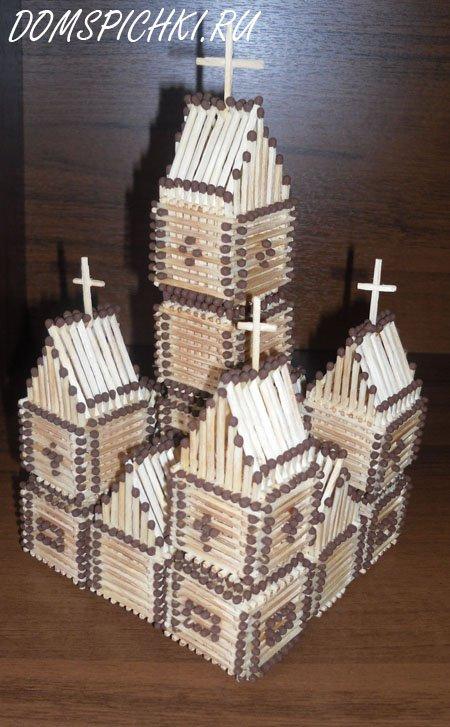 Инструкция церкви из спичек