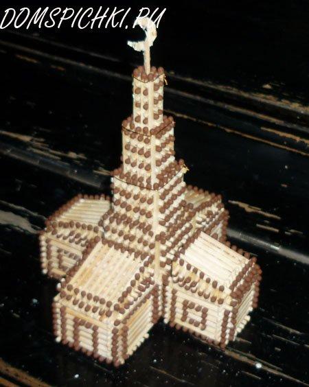 Мечеть из спичек своими руками 54