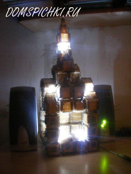 После того как изучите все основы включение светодиодов в цепь, ваши поделки из спичек буквально преобразятся.