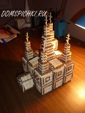 Собор и мечеть из спичек