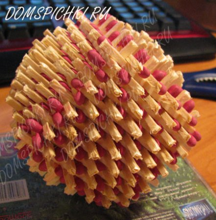 Шар из спичек! Как сделать шар из спичек.
