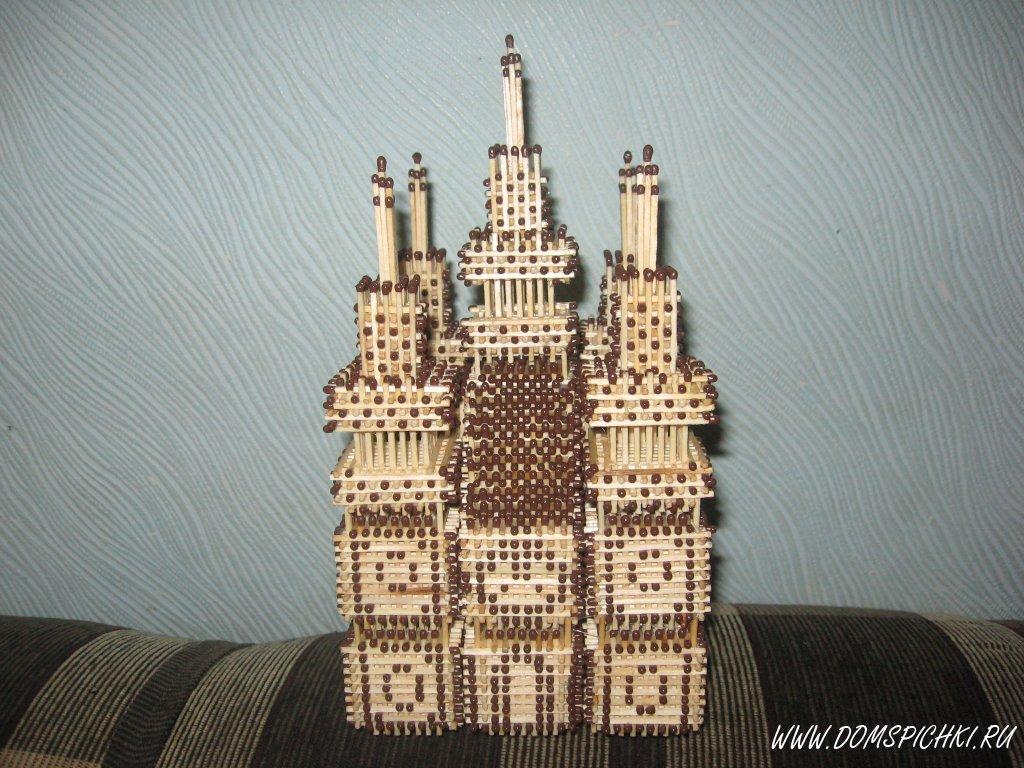 Замок из спичек своими руками для начинающих 79