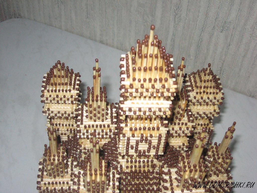 Замок из спичек без клея.
