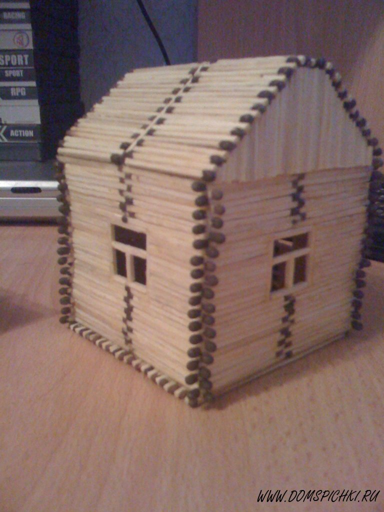 Большой домик из спичек своими руками