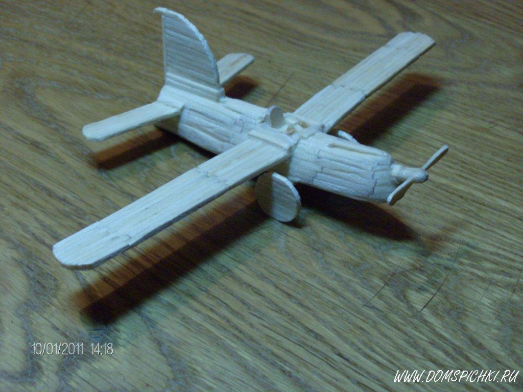 Поделка из спичек самолет 22