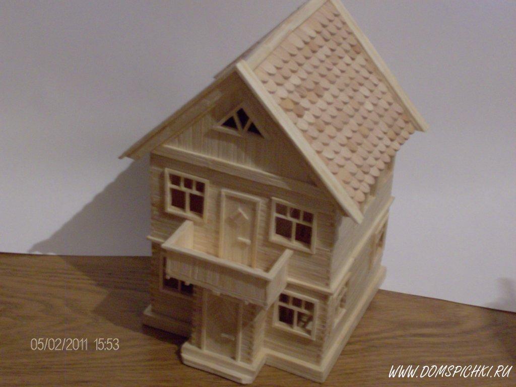 как сделать дом из спичечных коробков с инструкция