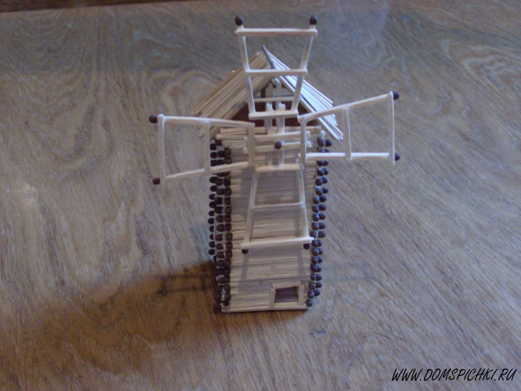 Мельница из спичек своими руками пошаговая инструкция с клеем