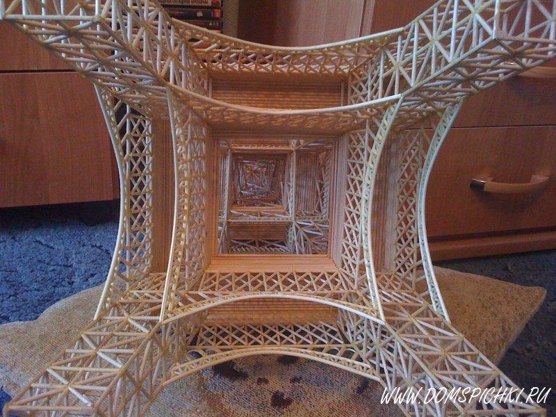 Эйфелева башня из спичек пошаговая инструкция40