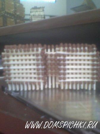 Соединение кубиков по половине спички