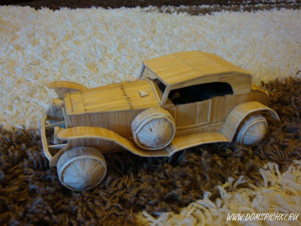 Машина из спичек поделки 83