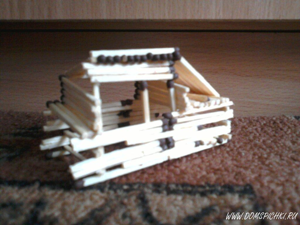 как сделать простой домик из спичек инструкция