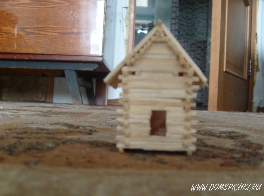 Поделки из спичек домики.