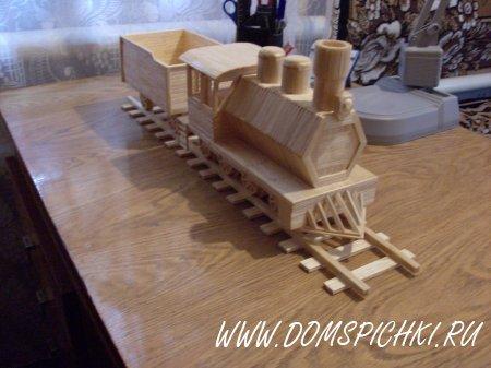 Поезд из спичек своими руками пошаговая инструкция 59