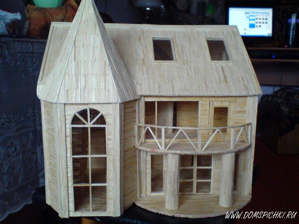 Дом из спичек своими руками 335