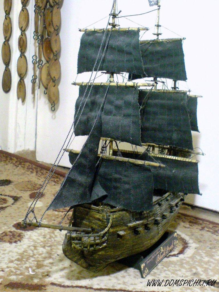 корабль из зубочисток своими руками пошаговая инструкция