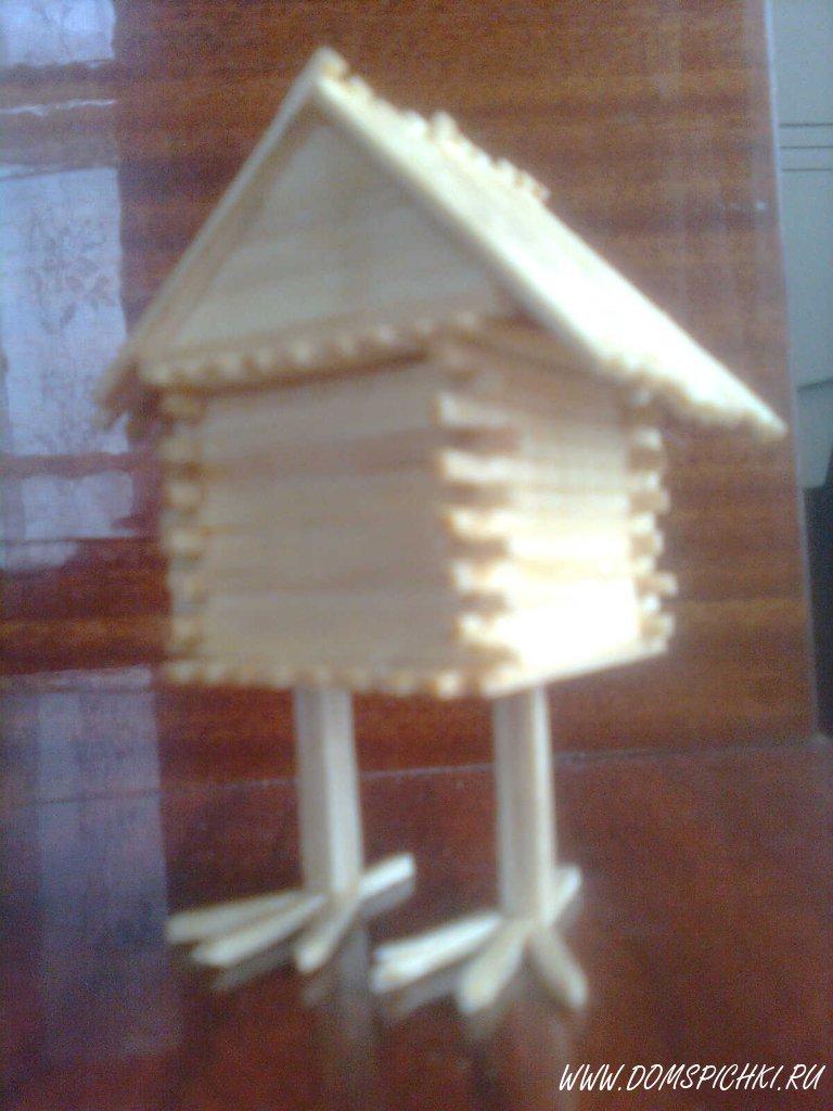 Как своими руками сделать домик из спичек