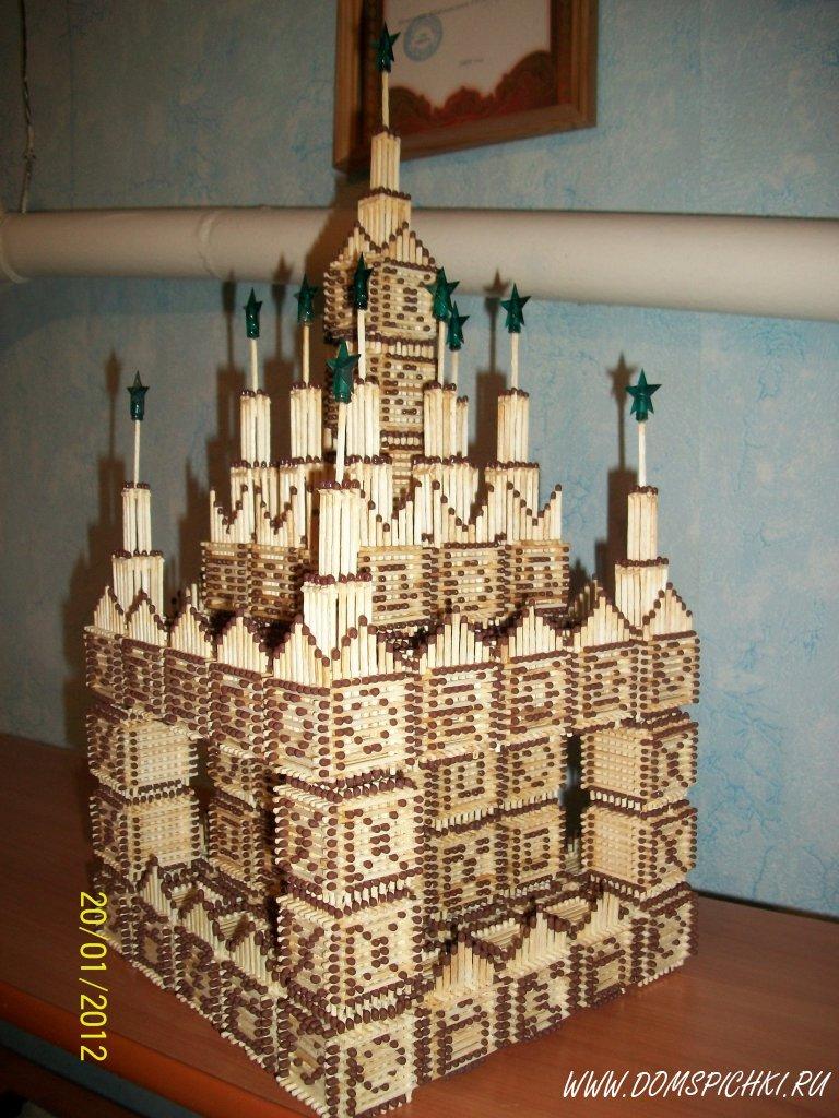 Поделка замок из спичек