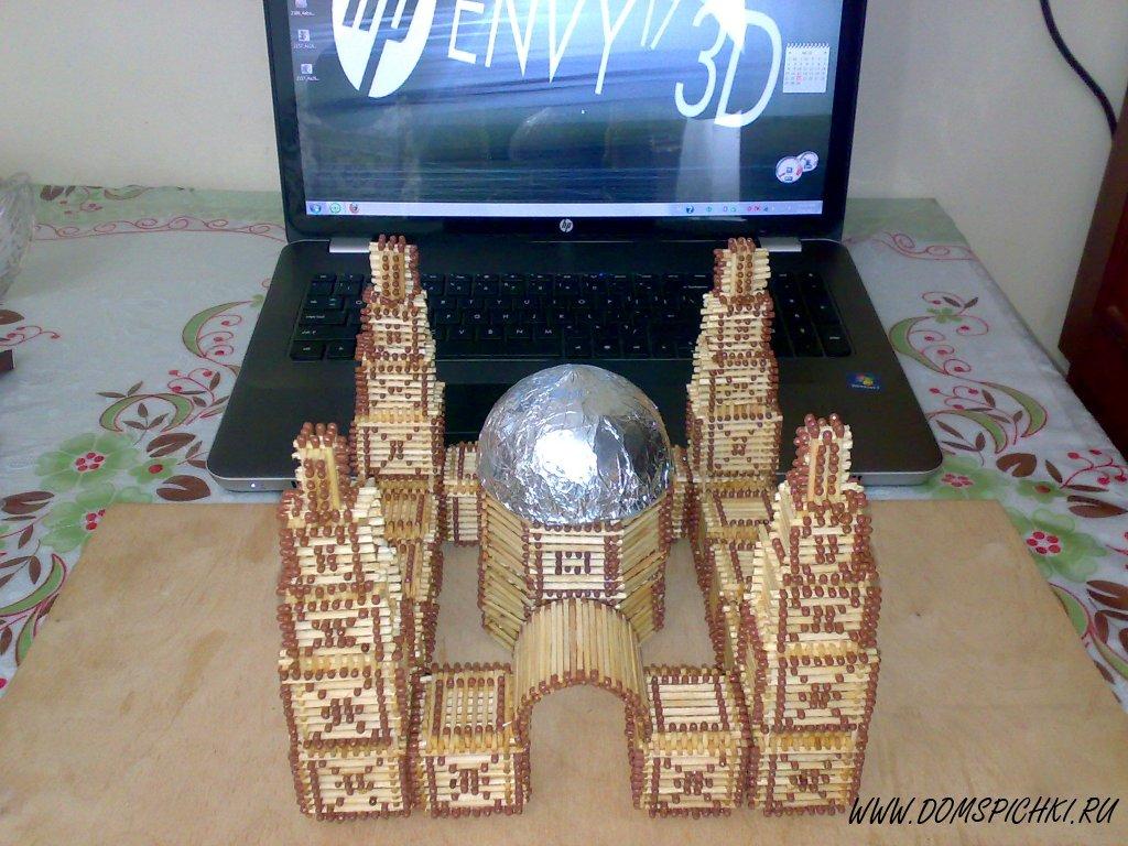 Мечеть из спичек своими руками 12