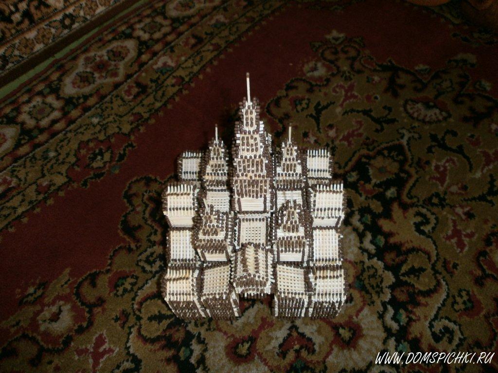 Поделки замок из спичек