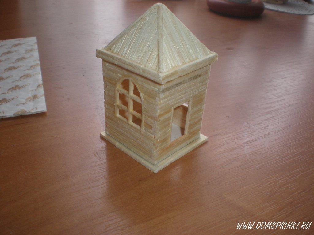 Как сделать дом и спичек