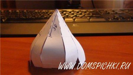 Как сделать купол из картона