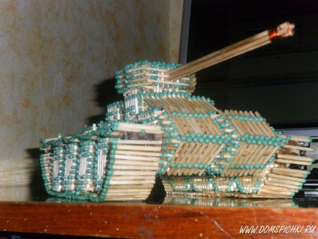 Как сделать спичечный танк фото 624