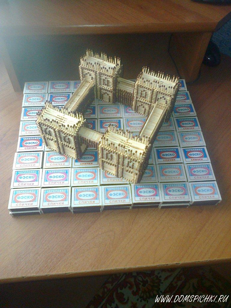 Домики из спичечных коробков инструкция