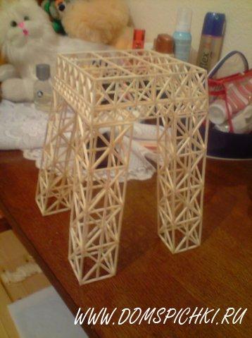 Эйфелевая башня » дом спички поделки из спичек и не только.