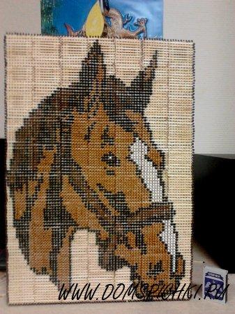"картина из спичек ""Лошадь"""