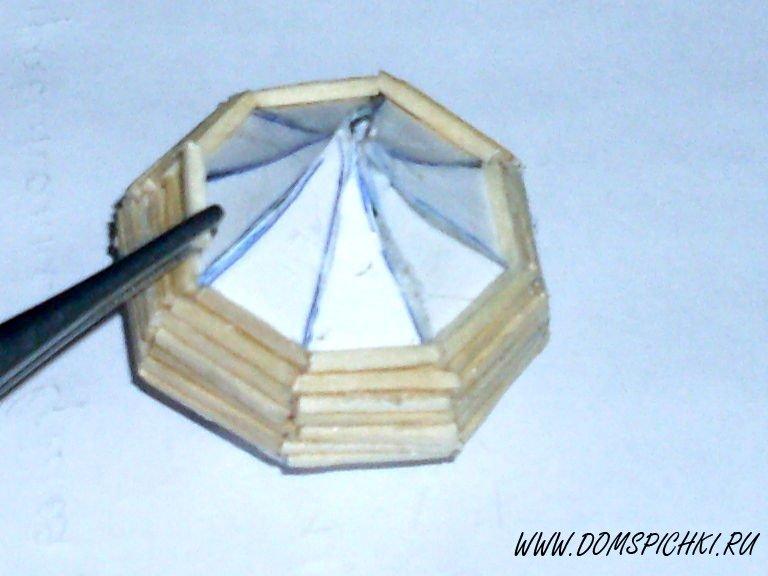 Как сделать купол церкви из спичек